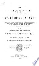 The Constitution Of The State Of Maryland