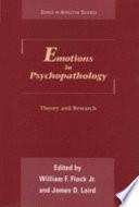 Emotions In Psychopathology Book PDF