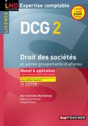 DCG 2 - Droit des sociétés et autres groupements d'affaires - Manuel et applications - 8e édition