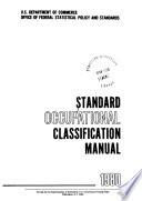 Standard Occupational Classification Manual