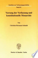 Vorrang der Verfassung und konstitutionelle Monarchie