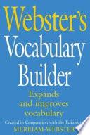 Webster's Vocabulary Builder