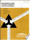 Government wide Index to Federal Research   Development Reports Book