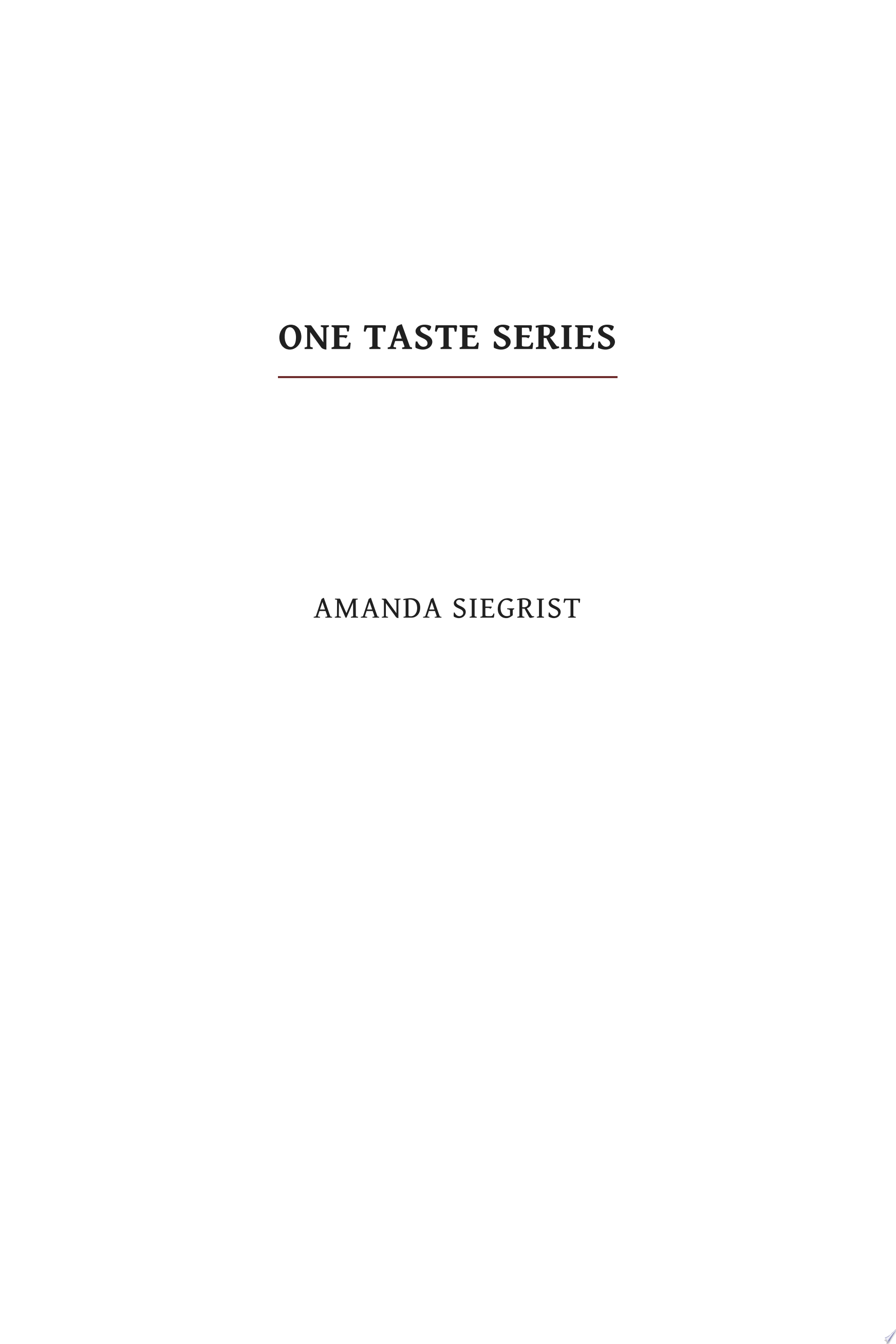 The One Taste Series Box Set (Books 1-4)