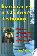 Inaccuracies in Children's Testimony