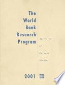 The World Bank Research Program 2001