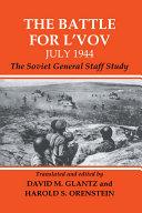 Pdf The Battle for L'vov July 1944