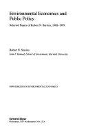 Environmental Economics and Public Policy