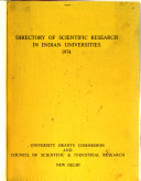 Directory Of Scientific Research In Indian Universities Book PDF