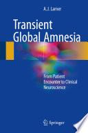 Transient Global Amnesia Book
