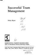 Successful Team Management Book