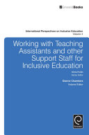 Working with Teachers and Other Support Staff for Inclusive Education