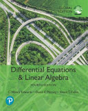 Differential Equations and Linear Algebra  Global Edition