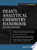 Dean's Analytical Chemistry Handbook