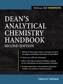 Dean S Analytical Chemistry Handbook Book PDF