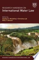 Research Handbook on International Water Law Book