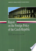 Report On The Foreign Policy Of The Czech Republic Book