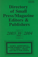 Directory Of Small Press Magazine Editors Publishers 2006 2007