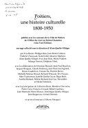 Poitiers, une histoire culturelle