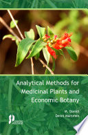 Analytical Methods for Medicinal Plants and Economic Botany Book