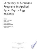 Directory of Graduate Programs in Applied Sport Psychology