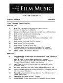 The Journal Of Film Music