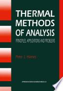 Thermal Methods of Analysis