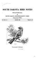 South Dakota Bird Notes