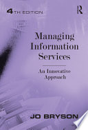 Managing Information Services Book