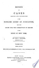 Reports of Cases Argued and Determined in the Supreme Court of the State of New York: Wendell v.1-26 by New York (State). Supreme Court PDF