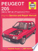 Peugeot 205 1983 to 1997 (A to P Registration) Petrol
