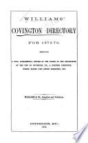 Williams' Covington and Newport Directory
