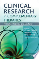 Clinical Research In Complementary Therapies E Book Book PDF