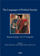 The Languages of Political Society. Western Europe, 14th-17th Centuries