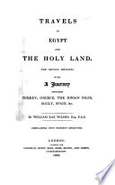Travels In Egypt And The Holy Land