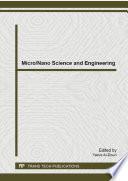 Micro Nano Science And Engineering