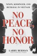 No Peace, No Honor