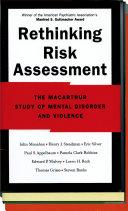 Rethinking Risk Assessment