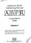 American Book Publishing Record  : BPR cumulative , Bände 1-6;Bände 8-10;Band 15