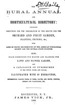 The Rural Annual and Horticultural Directory for the Year 1856
