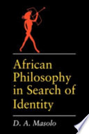 African Philosophy In Search Of Identity Book PDF