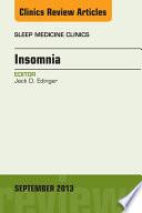 Insomnia An Issue Of Sleep Medicine Clinics