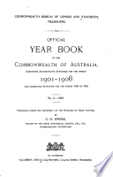 Official Year Book Of The Commonwealth Of Australia No 2 1909