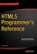 HTML5 Programmer s Reference