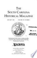 The South Carolina Historical Magazine