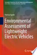Environmental Assessment Of Lightweight Electric Vehicles Book PDF