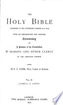 The    Holy Bible  According to the Authorized Version  A D  1611   Joshua  Judges  Ruth  Samuel  Kings I Book