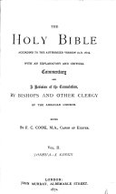 The    Holy Bible  According to the Authorized Version  A D  1611   Joshua  Judges  Ruth  Samuel  Kings I