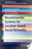 Recommender Systems For Location Based Social Networks Book PDF