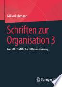 Schriften zur Organisation 3